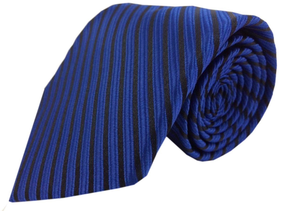 Gravata Azul Royal Trabalhada d9db684c664