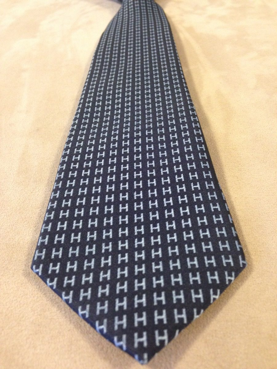 Gravata Hermes Paris Azul H Grande - R  260,00 em Mercado Livre d9b07e0d65