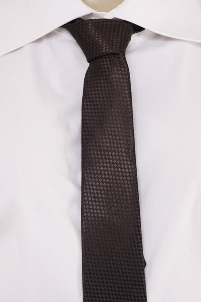 4f022fa330e Gravata Semi Slim Detalhe Quadriculado Semi Brilho - Preta - R  9