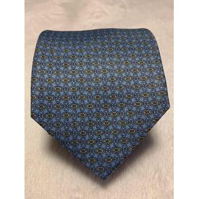 8776fcd9c3f59 Gravata Salvatore Ferragamo Azul Claro E Amarelo Chaves