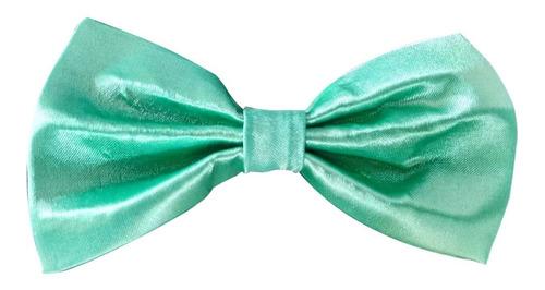 gravatas borboleta c/ regulador, adulto verde menta. ref:247