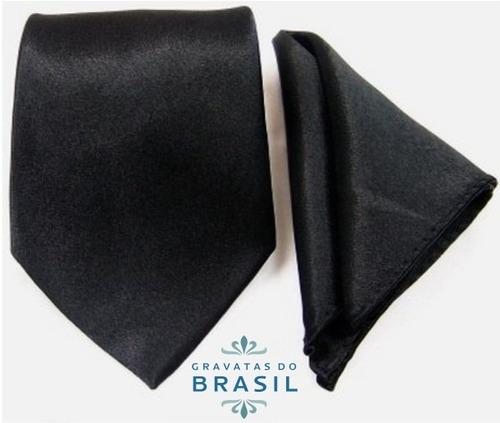 gravatas tradicional + lenço para casamento - várias cores