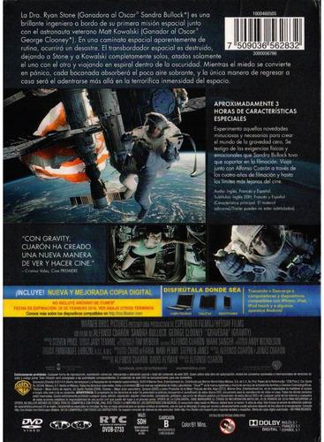 gravedad gravity sandra bullock 2 discos pelicula dvd