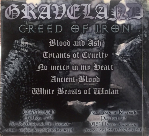 graveland - creed of iron - digipack imp germany lacrado