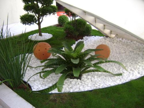 gravilla blanca de cuarzo - piedra natural