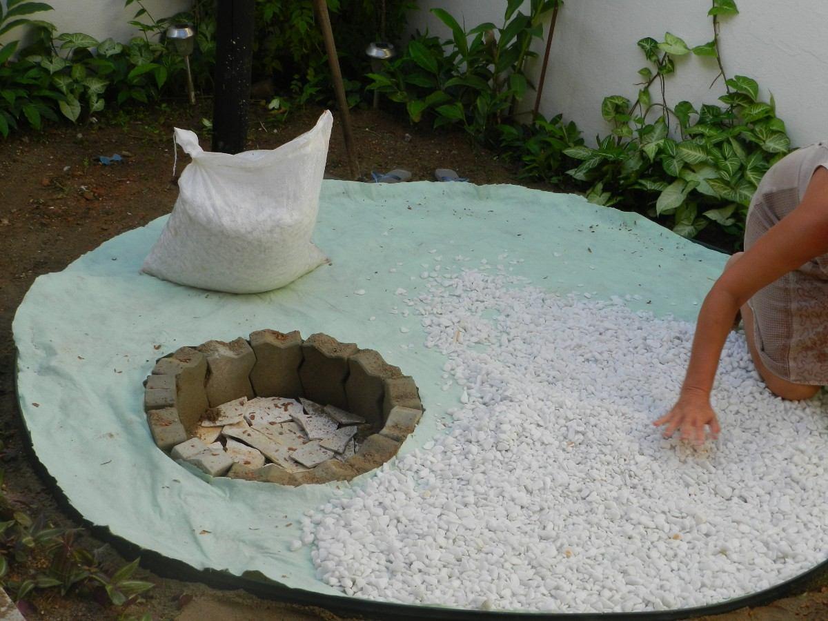 Gravilla blanca de cuarzo piedra natural en for Sacos de piedras para jardin