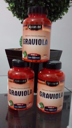 graviola - 120 caps - 500 mg - apisnutri.