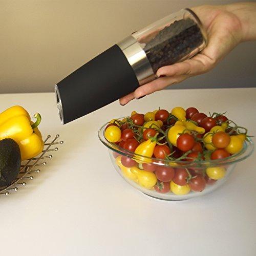 gravity electric salt pepper grinder - automático alimentado