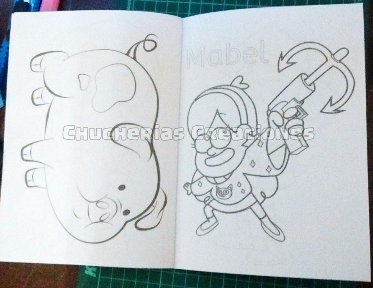 Gravity Falls 30 Cuadernos Para Colorear O Lisos P/ Dibujar - $ 498 ...