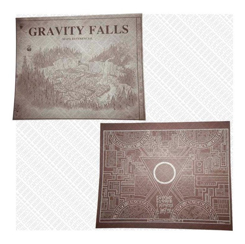 gravity falls diario 1 2 y 3 pluma uv tinta invisible mapas