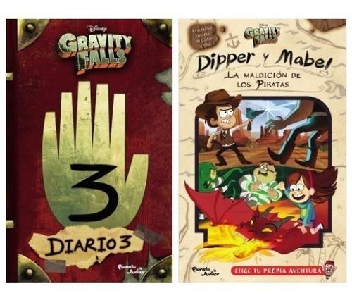 gravity falls diario 3 + dipper y mabel - 2 libros planeta
