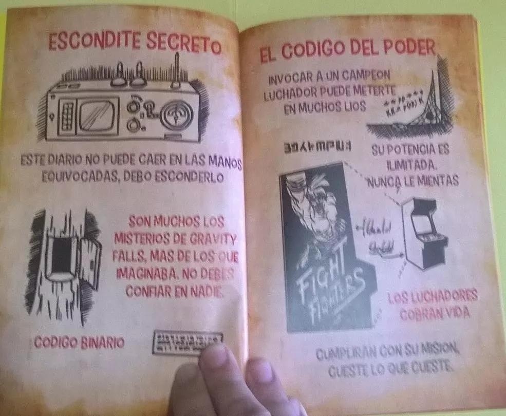 Gravity Falls Diario 3 Español +pluma Tinta Invisible+luz