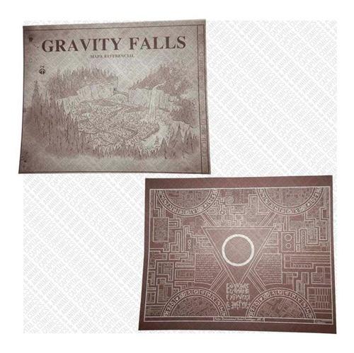 gravity falls diario 3 español tinta invisible +lampara mapa