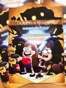Gravity Falls Invitaciones De Cumpleaños