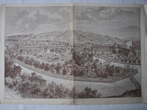 gravura exposição nacional de zurique 1883 (réplica)