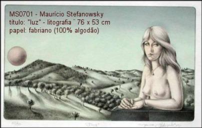 gravura-litografia mauricio stefanowsky - 75x53 ag317