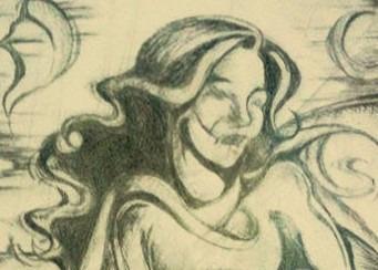 gravura mulher surrealista