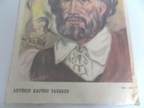 gravura retratando antônio rapôso tavares lanzellotti coleçã
