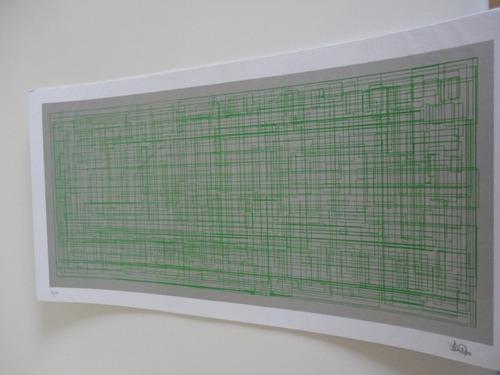 gravura serigrafia josé henrique fabre rolim  50x30cm