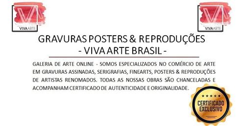 gravuras posters oficiais romero britto - fluffy friends
