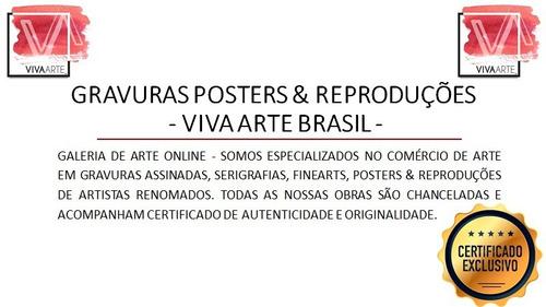 gravuras posters oficiais romero britto - neptune´s daughter