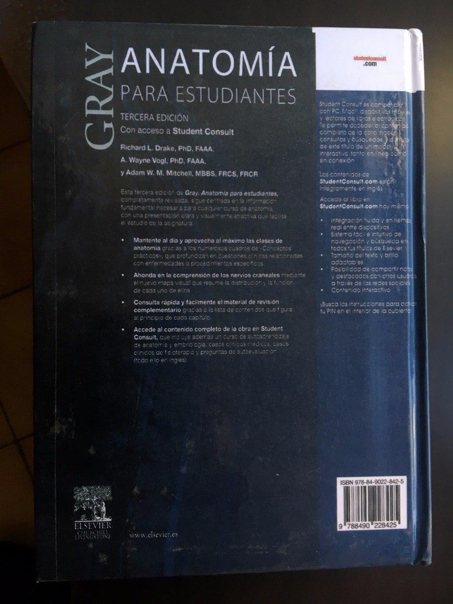 Gray Anatomía Para Estudiantes Tercera Edición Libro Nuevo ...