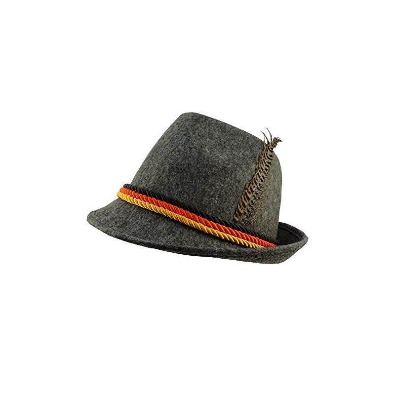 Gray Felt Alpine Oktoberfest Sombrero De Traje Bávaro Alemán ... e0b0a1a1355