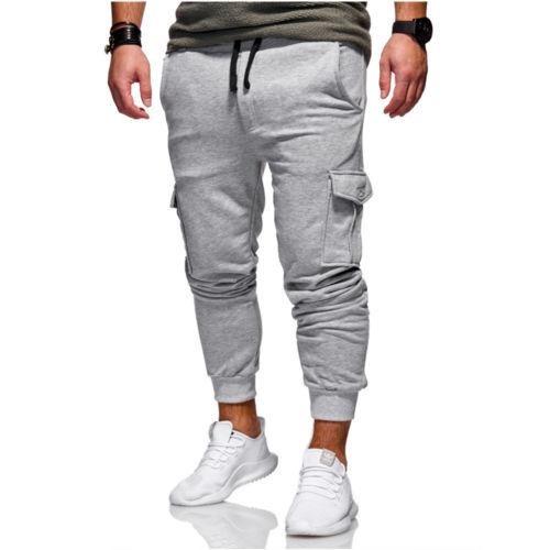 5365eb3a58 Gray - M - Nueva Slim Fit Urbano Pierna Recta Pantalone-4239 ...