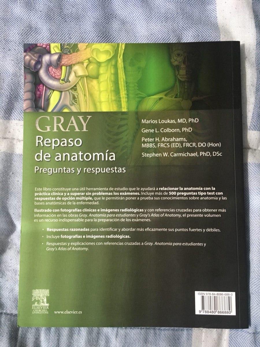 Gray Repaso De Anatomia: Preguntas Y Respuestas - Bs. 3.100,00 en ...