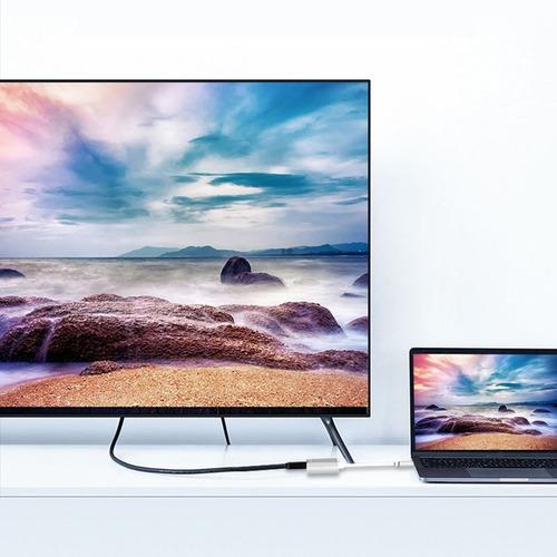 gray tipo c turn hdmi+vga monitor de ordenador cable convert