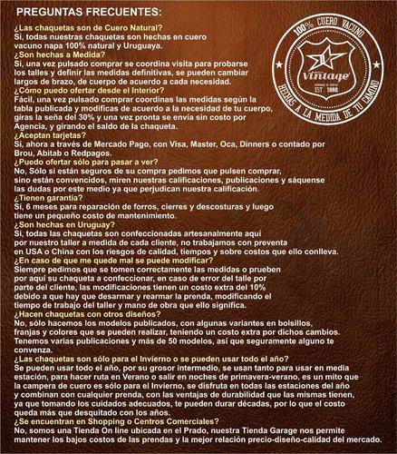 great hits! camperas cuero legitimo rettro vintage uruguay!