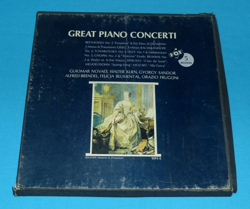 great piano concerti 5 vinilo beethoven mozart chopin liszt