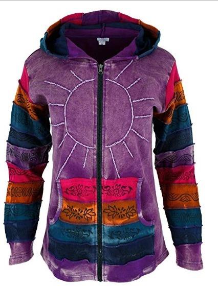 sitio de buena reputación 58eca 68876 Greatergood Sunshine Daydream Hooded Jacket Sudadera Hippie