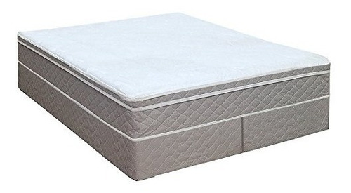 greaton 10 pillowtop montado colchón ortopédico y box spri