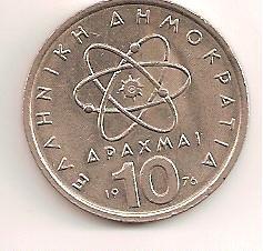 grecia 10 dracma 1976