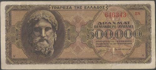 grecia 500.000 dracmas 3 mar 1944 p126b