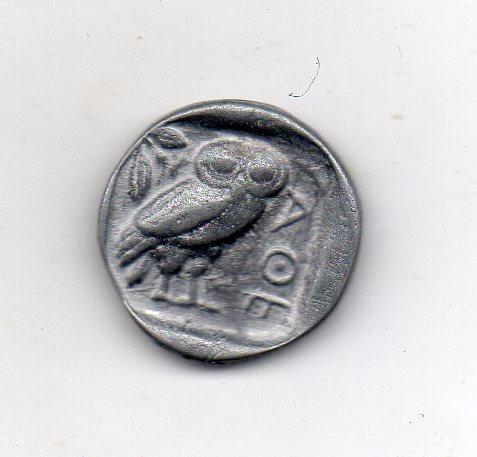 grécia antiga-atenas e a coruja - 300 ac -réplica