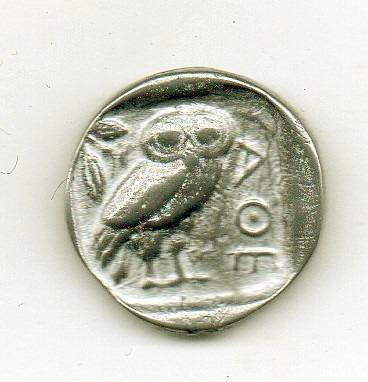 grécia antiga- athenas e a coruja-réplica