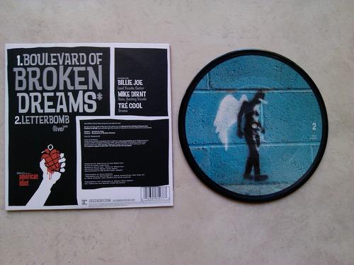 green day - boulevard of broken dreams - vinilo 7 pulgadas