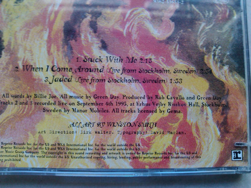 green day - stuck with me cd single parte 1 - usa