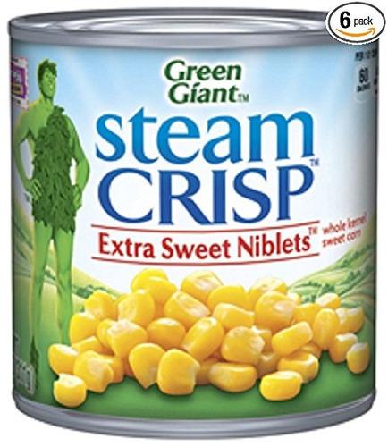 green giant, niblets extra dulce, 11 oz lata (paquete de 6)