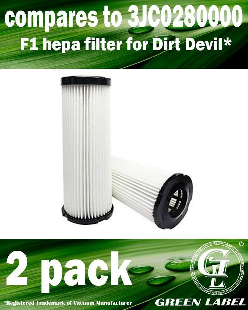 2 HEPA Filter For Dirt Devil F1 Vacuum Breez Featherlite Jaguar Bagless Scorpion