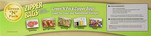 green n pack zipper congelador de alimentos bolsas gallon