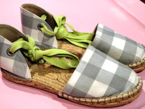 green sandália anabela s/salto tam29 amarra perna quadric