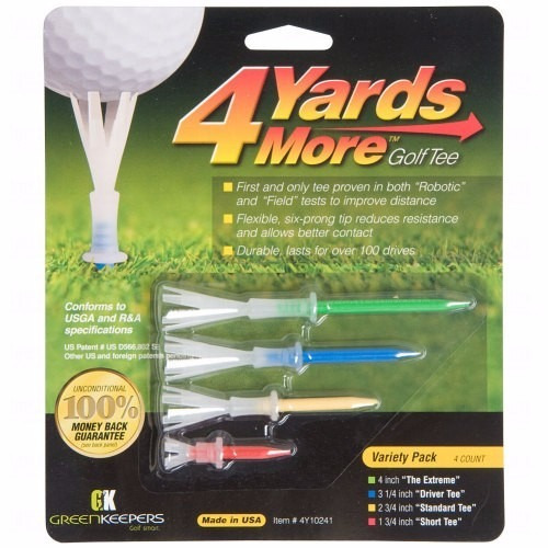 greenkeepers tees 4 yards more variety pack