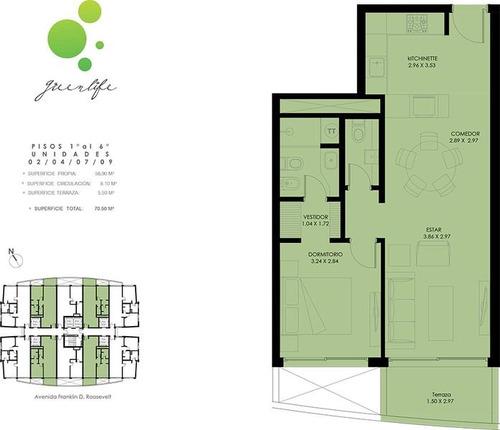 greenlife, unidad de 1 dormitorio, baño, a estrenar