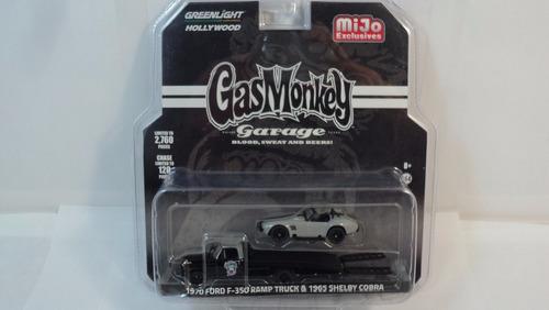 greenlight 1:64 gas monkey *1970 ford f350 plataforma y cobr