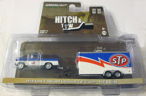 greenlight - 1970 ford f-100 y stp trailer escala1/64.