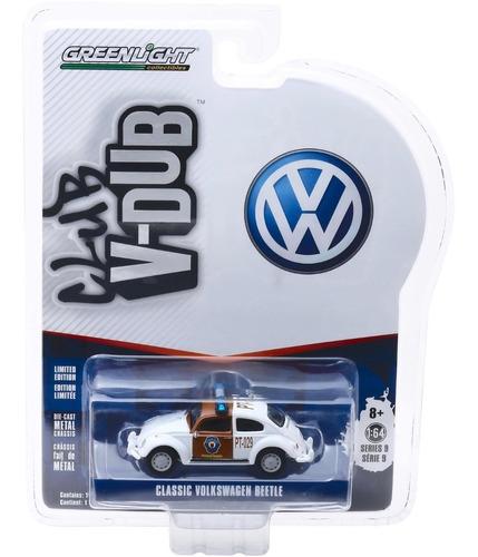 greenlight club v-dub classic volkswagen beetle fusca 1:64
