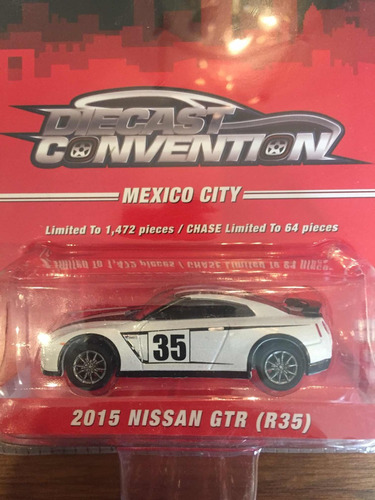 greenlight diecast convention mexico city nissan gt-r blanco